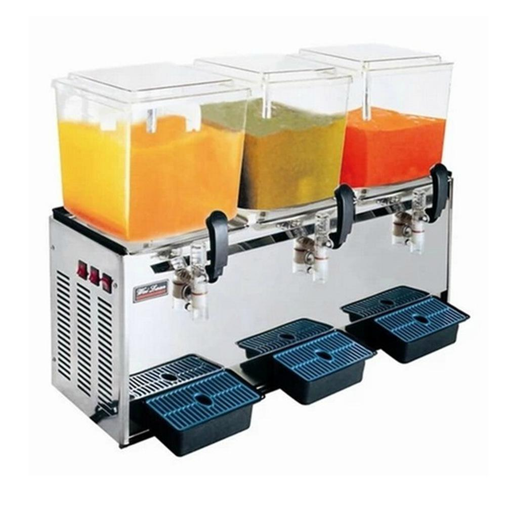 Cold Beverage Machine 18L*3 Juice Dispenser Three Tank Commercial Automatic Juicer 220V Fruit Juice Liquider