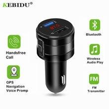 Bluetooth 4.2 fm transmissor 2.1a duplo usb portas modulador carregador de carro adaptador de isqueiro do cigarro leitor mp3 handsfree