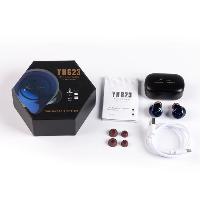 AK KINERA YH623 TWS w uchu Monitor słuchawki bezprzewodowe Bluetooth 5.0 redukcja szumów słuchawki douszne HIFI DJ słuchawki douszne