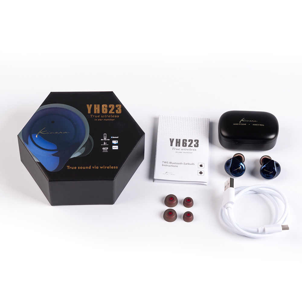 AK KINERA YH623 TWS في الأذن رصد سماعات سماعة لاسلكية تعمل بالبلوتوث 5.0 إلغاء الضوضاء سماعات الأذن HIFI DJ سماعات الأذن