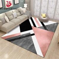 버블 키스 북유럽 스타일 중금속 카펫 거실 어린이 방 카펫 블랙 기하학 카펫 침실 홈 장식 러그