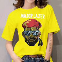 New Popular Major Lazer Electro Music Band women's Black T-Shirt Size S-3XLT Shirt Summer Style