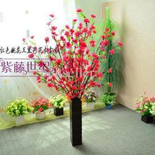 Искусственные ветви персиковой вишни длиной 128 см, шелковые цветы для рождества, Свадебные вечерние украшения