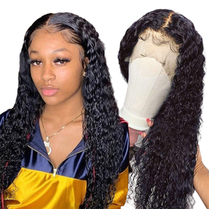 Pelucas de cabello humano con onda de encaje en agua, peluca con malla frontal de 30 pulgadas, pelucas de cabello humano brasileño rizado Alipearl para mujeres negras 13x4