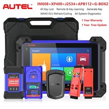 Autel MaxiIM IM608 wszystkie kluczowe narzędzie do programowania i Autel APB112 inteligentny klucz symulator i G BOX2