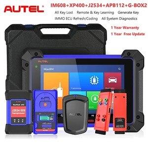 Image 1 - Autel MaxiIM IM608 wszystkie kluczowe narzędzie do programowania i Autel APB112 inteligentny klucz symulator i G BOX2