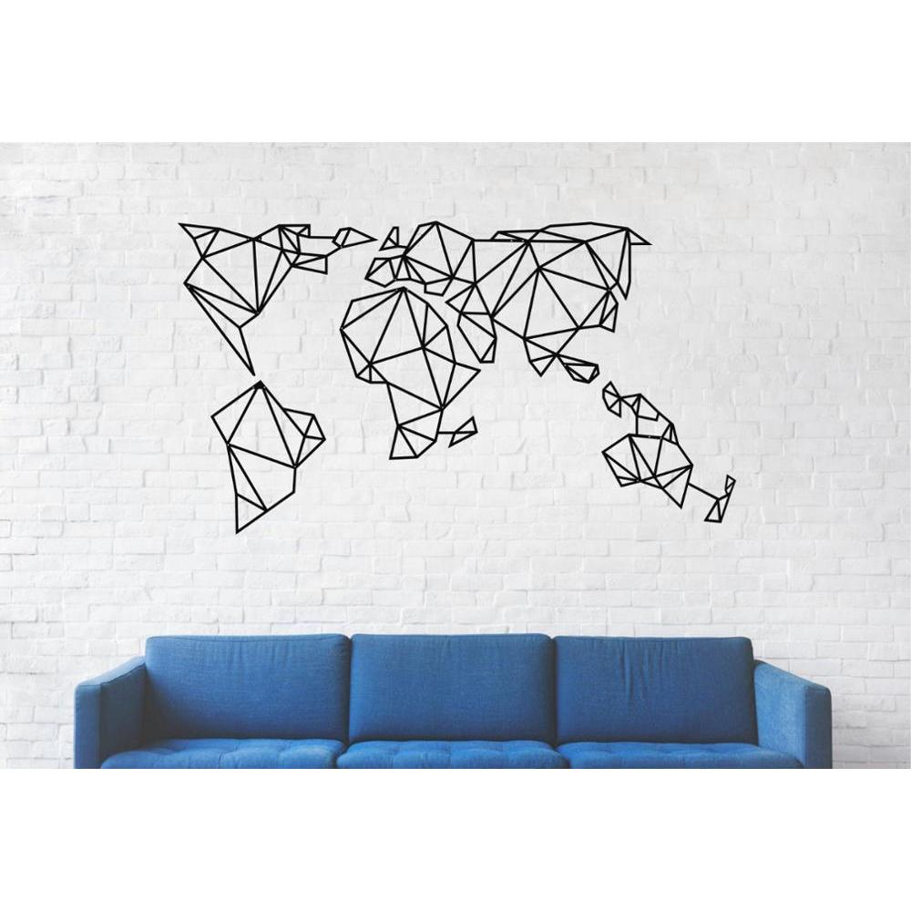 Xxx Large Metal World Map Wall Art Metal Wall Art Geometric World Map Metal Wall Decor Wall Hangings Super Deal 69065 Cicig