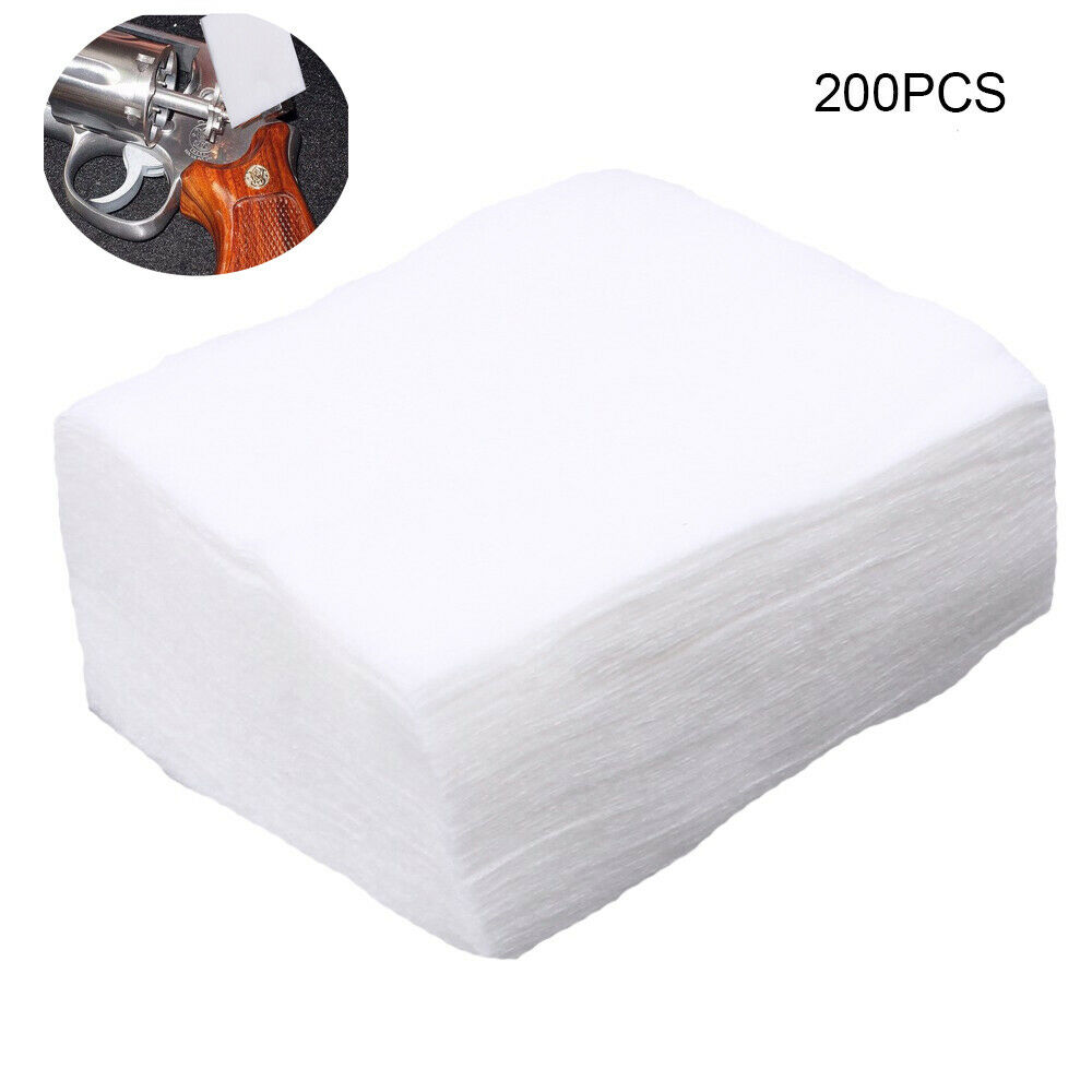 200pcs/lot Gun Cleaning Patches High Absorbency Softness Gun Clean Cloth Hunting Clean Tools Accessories 3