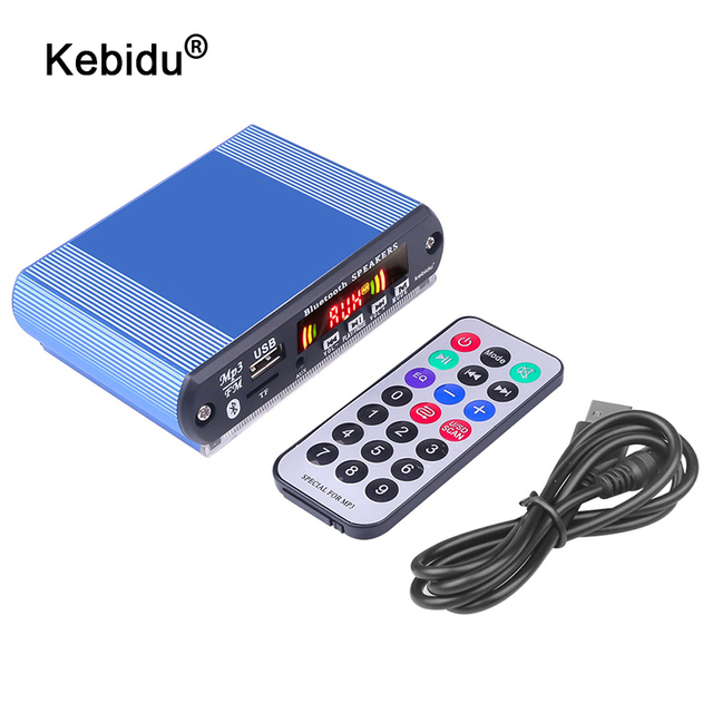 Recording Bluetooth5.0 Receiver 12V Car Kit MP3 Player Decoder Board Color Screen FM Radio TF USB 3.5 Mm AUX Audio For Iphone