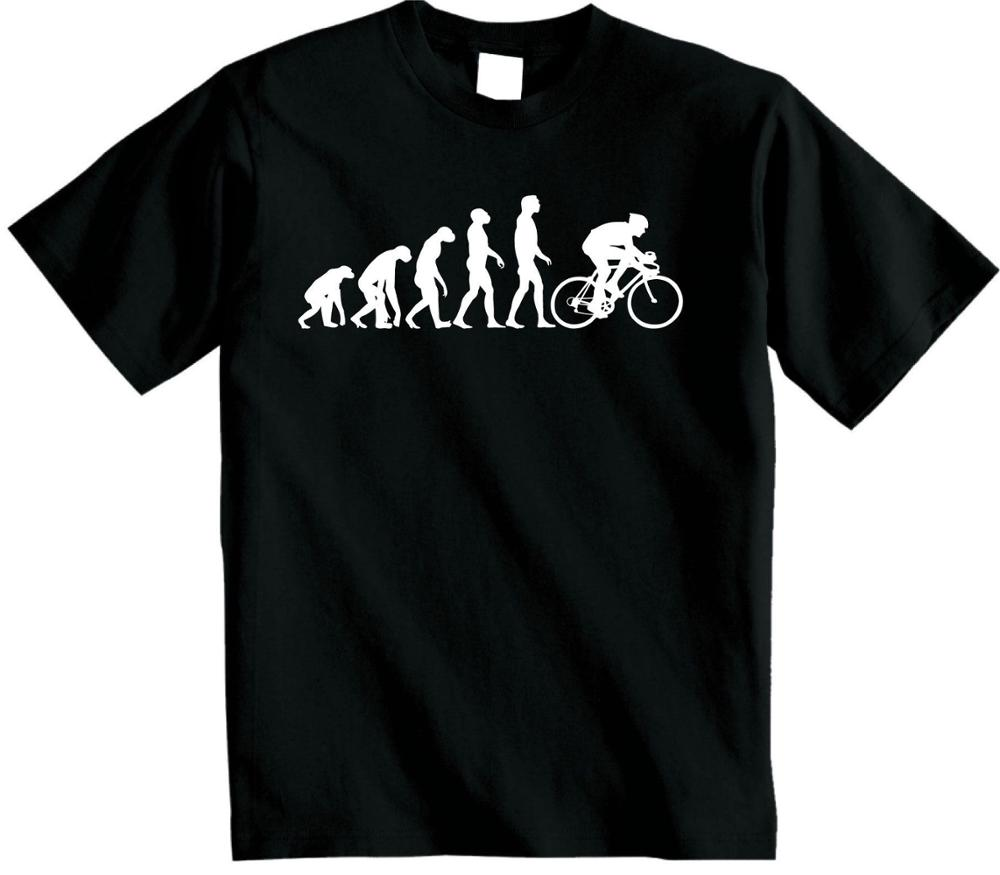 Cycling Evolution Unisex T Shirt Evolve Of Man Cycling Clothing T Shirt Cotton Streetwear Tee Shirt