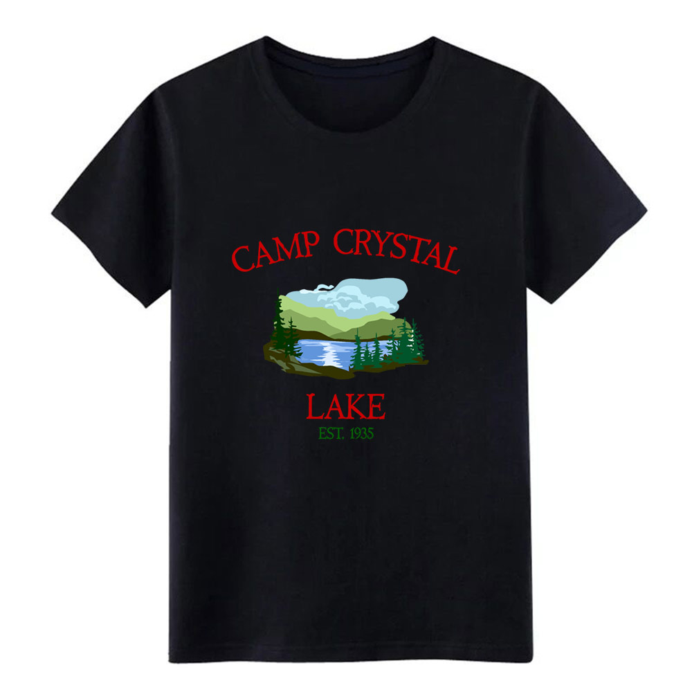 camp crystal lake t shirt men printed cotton plus size 3xl Leisure Cute Funny Casual summer Vintage shirt image