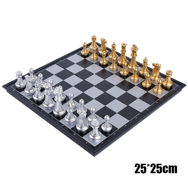 10/'/' Travel Magnetic Chess Board Portable Chessboard Box Set Kid Game Folding