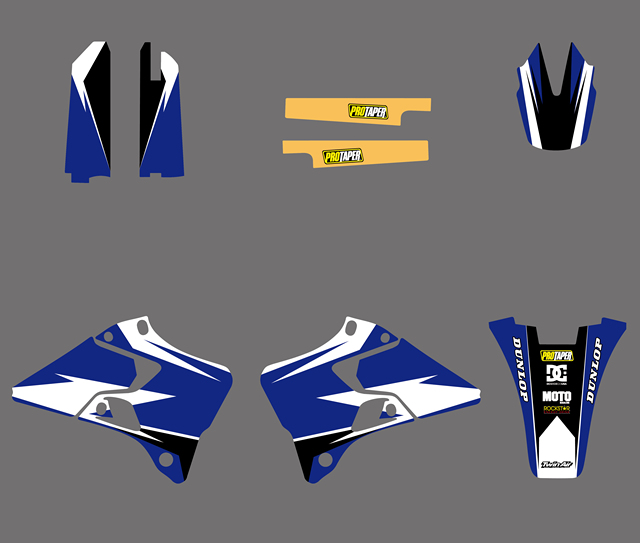 For Yamaha YZ125 YZ250 1996-2001 Motorcycle New Team Graphic Background Decal Stickers Kit For YZ 125 250 1997 1998 1999 2000