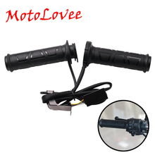 Hand-Warmer Heated-Grips Motorcycle-22mm Scooter Universal Electric Pair 12V Moped-Bar