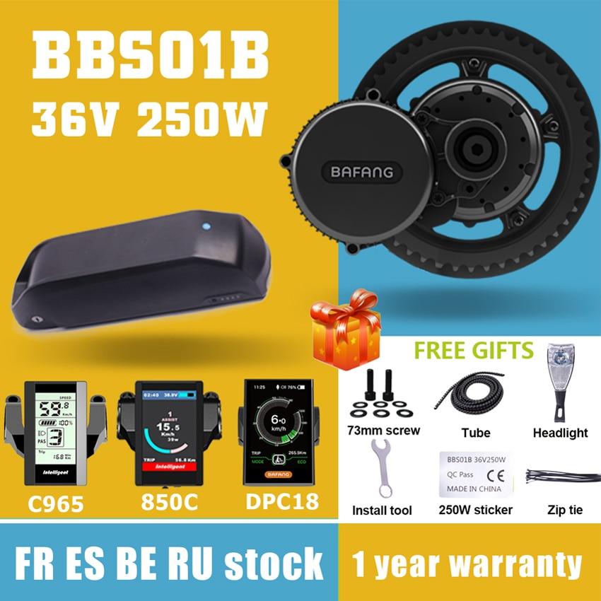 Мотор Bafang BBS01 BBS01B 36 в 250 Вт, средний приводной двигатель, наборы для преобразования электрического велосипеда в электровелосипед, литиевая б...