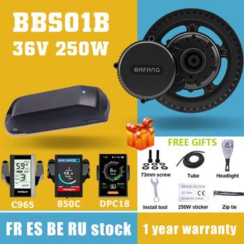 Silnik Bafang BBS01 BBS01B 36V 250W silnik z napędem pośrednim rower elektryczny zestawy do konwersji Ebike 36V21AH bateria litowa Samsung zestawy komórek tanie i dobre opinie CN (pochodzenie) Bezszczotkowy 36 v 201-300 w Silnik zawieszony z boku Bafang BBS01B 8fun 36V 250W MM G340 250 C965 850C DPC18 MS100 MS200