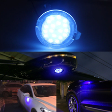 купить Blue Welcome Light Car Rear Mirror Light for Ford Fusion 2 3 Focus MK2 Mondeo MK4 Explorer Taurus LED Under Mirror Puddle Light по цене 512.15 рублей