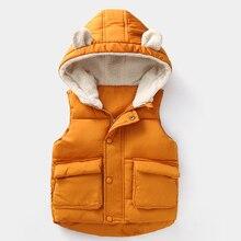 купить 2019 Winter Autumn Girls Vest Children Sleeveless Hooded Warm Outerwear Coats For Baby Boy Vests Kids Jackets Baby Girl Clothes недорого