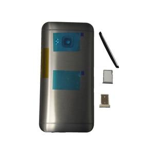 Image 1 - Оригинальный чехол для HTC One M9, чехол с аккумулятором, задняя крышка, задняя крышка, металлическая задняя крышка, верхняя крышка, лоток для sim карт, лоток для SD TF, Боковая кнопка