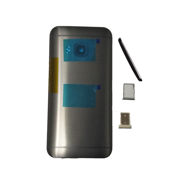 Оригинальный чехол для HTC One M9, чехол с аккумулятором, задняя крышка, задняя крышка, металлическая задняя крышка, верхняя крышка, лоток для sim карт, лоток для SD TF, Боковая кнопка
