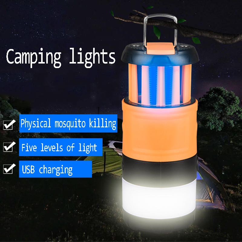 2020 New 2 In 1 Led Mosquito Killer Lamp Light USB Insect Killer Bug Zapper Mosquito Trap Lantern Repellent Lamp Dropshipper