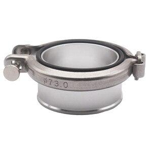 Image 1 - 1 conjunto turbo compressor v band flange + braçadeira para holset hx35 hx35w hx40w cummins 5.9l