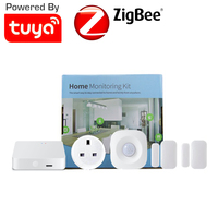 Smart Home Monitoring Kit Tuya Smart Gateway Door Window Sensor PIR Motion Sensor Power Monitoring UK 10A Smart Plug Socket