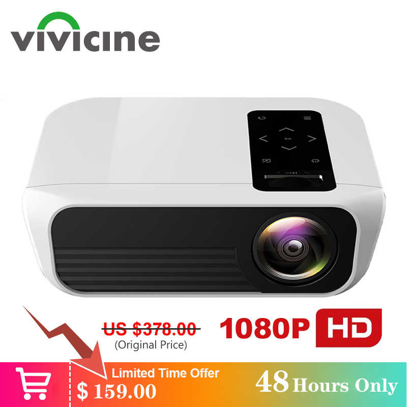 Vivicine Newest T8 Full HD Projector,Optional Android 9.0 HDMI USB PC 1080p LED Home Theater Projector Proyector Beamer
