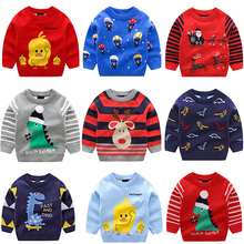 Boy Sweater Children Clothing Girl Winter Duck Dinosaur Knitted Baby Pullover Knitwear 2-6T Kid Clothes