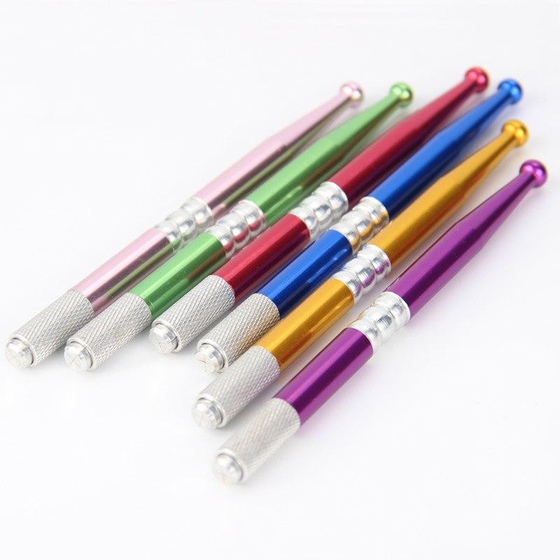 20PCS Microblading Pen Pinkiou Pen Pluma Microblading Kalem Tebori Eyebrow Tattoo Machine Permanent Makeup Manual Pen Lock-pin