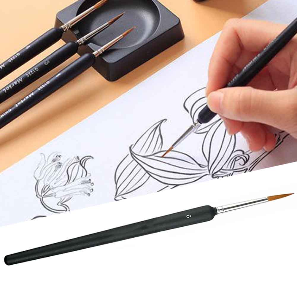 9pcs/Set Multifunctional Fineliner Different Size Watercolor Painting Professional Stationery Drawing Paint Brushes Nail Art
