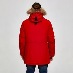 Image 2 - Tijger Kracht 2019 Alaska Parka Winter Jas Voor Mannen Waterdichte Warme Jas Met Echt Bont Capuchon Mannelijke Dikke Snowjacket Grote pocket