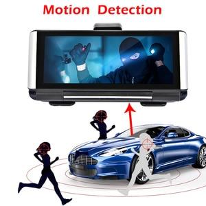 Image 4 - Bluavido 7 inç 4G ADAS Android araç kontrol paneli DVR GPS navigasyon FHD 1080P çift Lens Dash kamera G sensörü araba video kaydedici