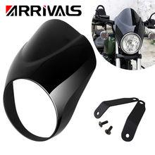 Jasny czarny motocykl reflektor Fairing zestaw do montażu na szybie pasuje do Yamaha XVS 950 SPEC BOLT 950 akcesoria motocyklowe