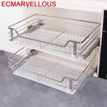 Стеллаж для посуды, органайзер для кухонных шкафов из нержавеющей стали, органайзер для кухонного шкафа, корзина для хранения