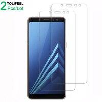 2Pcs Gehärtetem Glas Für Samsung Galaxy A7 A9 2018 A6 A8 Plus Screen Protector Film Für Samsung S6 S7 j4 J6 Plus 2018 Glas