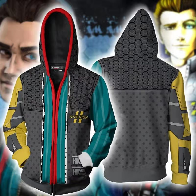 Game <font><b>Borderlands</b></font> 3 Assassin Zer0 Hoodies Sweatshirts Cosplay Costumes 3D printed men women <font><b>Borderlands</b></font> Hyperion Hoodie Jacket image
