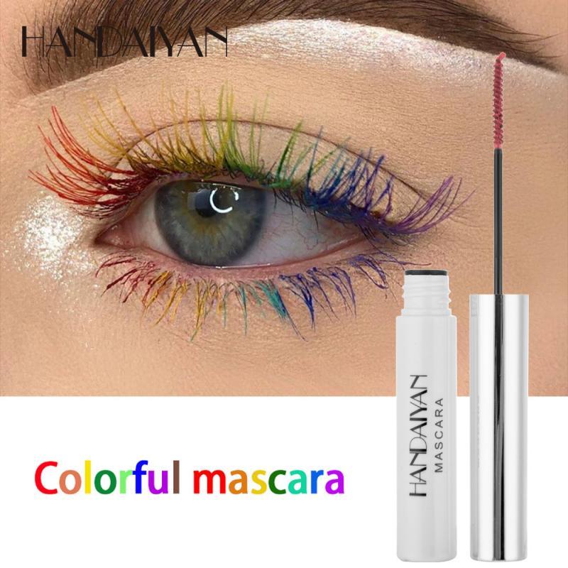 Cor rímel longa duração multicor maquiagem olho preto marrom roxo azul longo não florescendo alongar fácil remover cílios tslm1