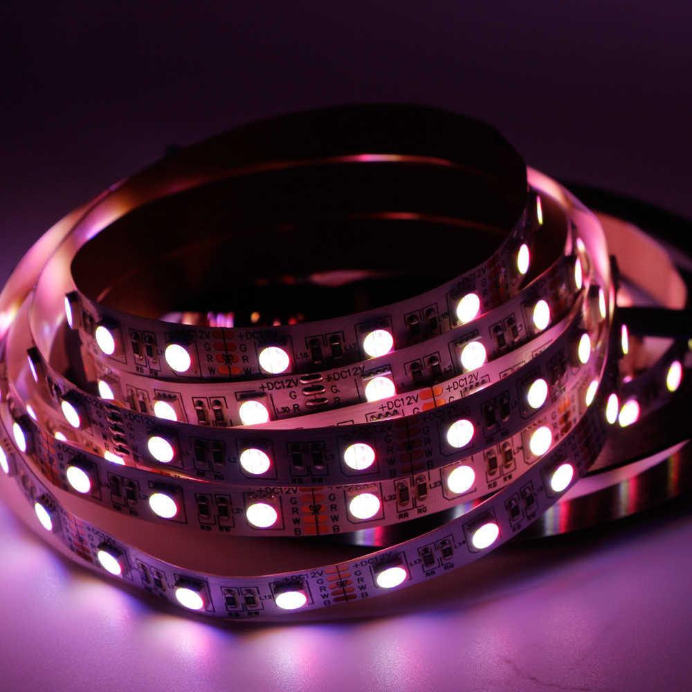 12mm PCB LED RGBW taśmy LED 5050 12V 24V 4in1 chipy 60 diod LED/m RGBW RGBWW taśmy LED światła RGB biały taśmy LED 300 wiosna lampy 5m