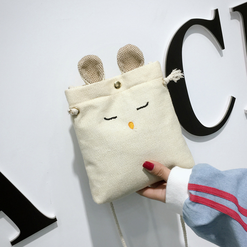 WOMEN'S Bag Shoulder Bag Large Bag Rabbit Pack Linen School Bag Handbag Satchel Bag Canvas Phone Bag Mini Casual Bag
