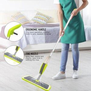 Image 2 - Magic Spray Mopชั้นไม้Reusableแผ่นไมโครไฟเบอร์360องศาบ้านWindowsห้องครัวMop Sweeperไม้กวาดเครื่องมือทำความสะอาด