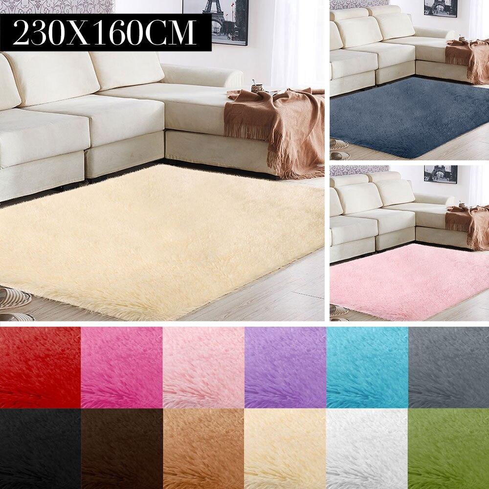 Tapis sol zone tapis moelleux chaud multicolore Polyester Fiber tapis décoration canapé moelleux tapis salon chambre 160x230cm