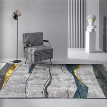 Nordic style geometric printed rug ,Modern pattern big size living room coffee table  mat,  all match decoration floor mat