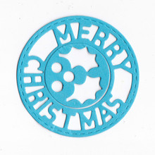 Merry Christmas Circle Frame Metal Cutting Dies Scrapbooking Card Making Craft Album Embossing DIY Decoration New