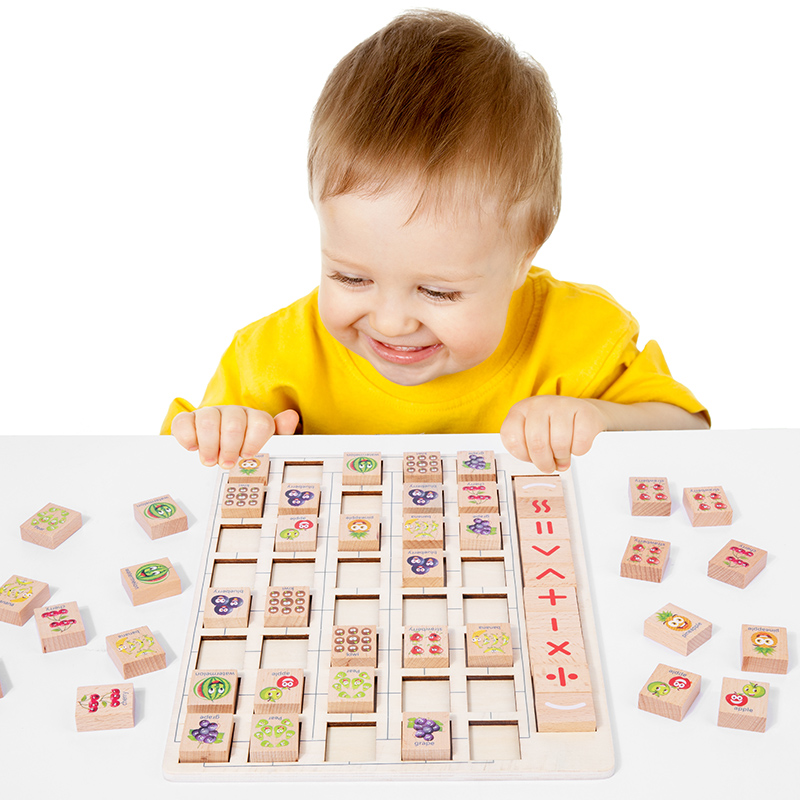 Numerical Calculation Fruit Elimination Game Early Education Puzzle Addition And Subtraction Parent-child Toys