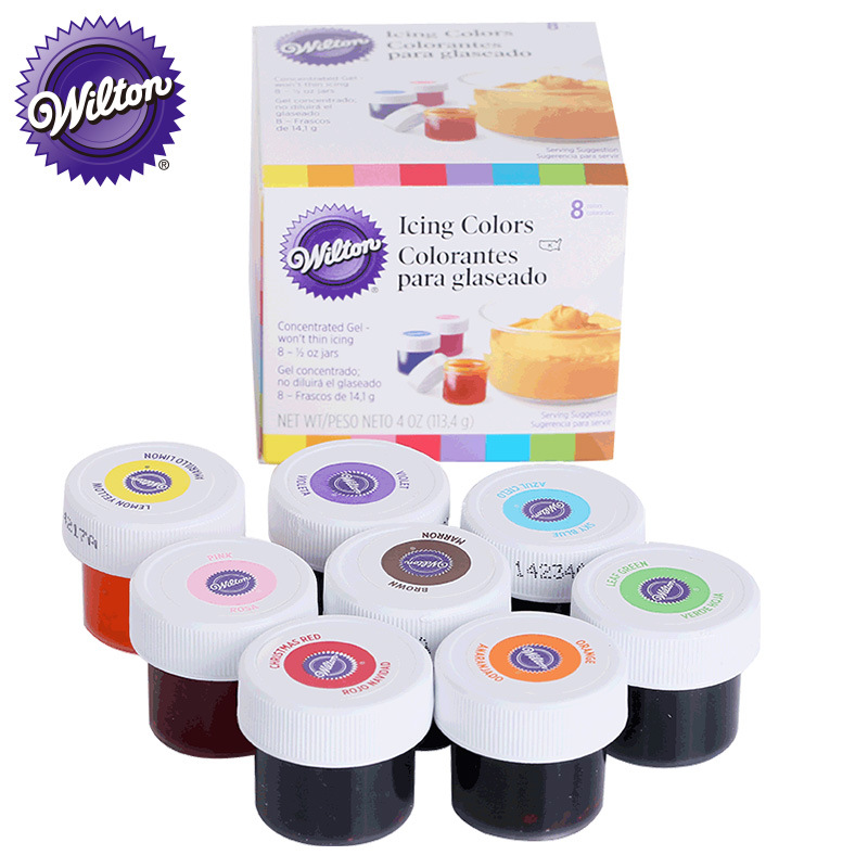 Wilton Food Color 8 Color Set Baking Raw Material Cake Cream Food Color Gel  Cake Decorating Tools  Baking Accessories