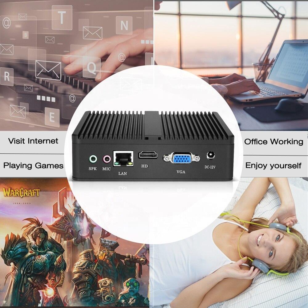 Best Mini Intel Core I3 Fanless Computer PC 4G Ram 60G SSD USB WIFI Win10 5005U Dual Core Vga Desktop Pc Computer