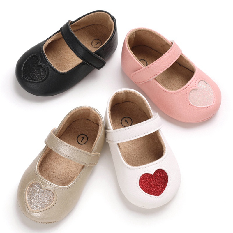 Baby Shoes Heart Shape Princess Baby Girl Shoes Cotton PU Leather Newborn First Walkers Toddler Shoes For Girls9