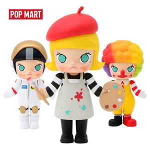 Image 4 - POP MART Molly Career art toys figure Random box gift Blind box Action Figure Birthday Gift Kid Toy free shipping