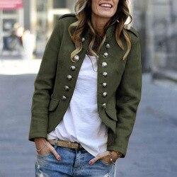 Jesień garnitur casual kurtki damskie z długim rękawem Slim krótki płaszcz dwurzędowy kobiet podstawowe małe garnitur brytyjski styl sweter topy 3